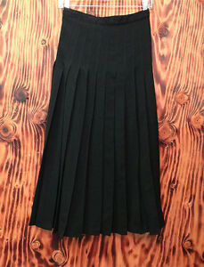 90s-Skirt-Vintage-Pleated-Claude-Barthelemy-Made-In-Paris-Size-40-Black-Wool