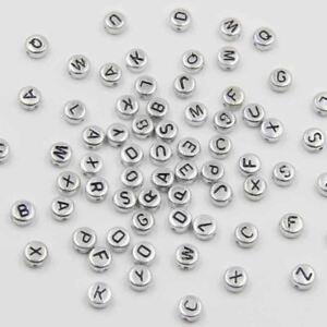 400 or Alphabet Lettre Perles 6.5 mm acrylique fabrication de bijoux perles