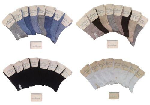 12 Paare Damen Socken ohne einschneidenden Gummi Spitze hangekettelt 4 8