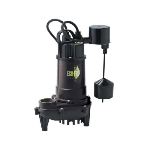 1//2 Cast Iron Submersible Sump Pump with Vertical Float Switch Quiet Durable