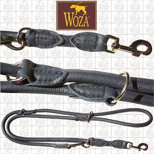 WOZA Premium Rundgenähte Hundeleine Lederleine Vollleder Rindnappa Lead S92919  | Elegantes Aussehen