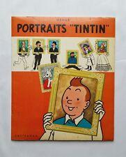 Portfolio BD - Portraits Tintin 8 planches / 1966 / HERGE / CASTERMAN / RARE