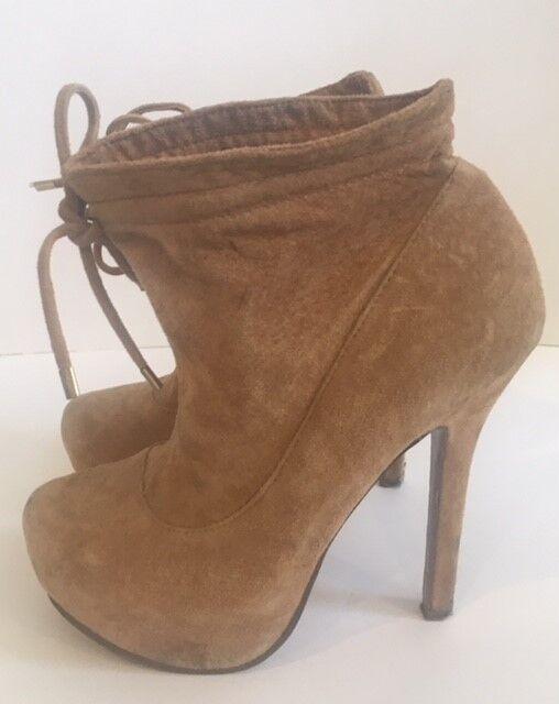 Kurt Geiger Miss KG tan suede ankle boots