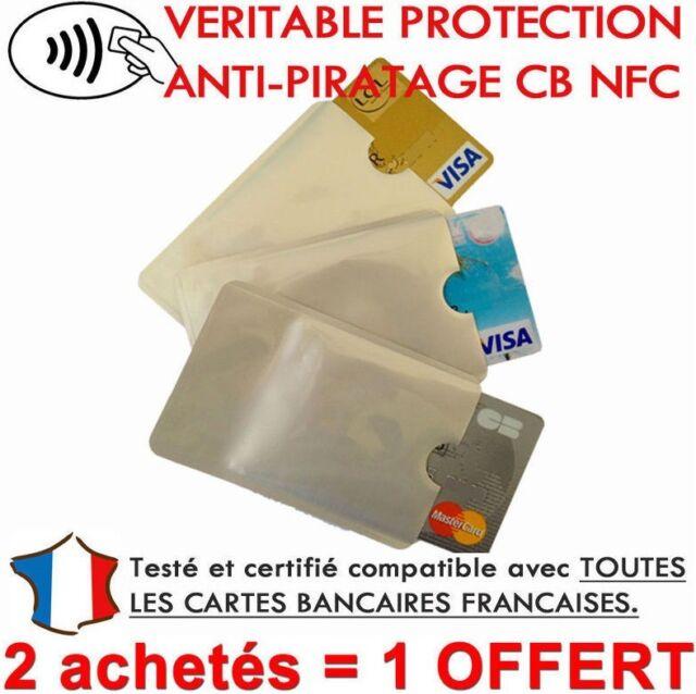 Etui protection ,pour Carte de crédit NFC RFID sans contact visa master card CB.