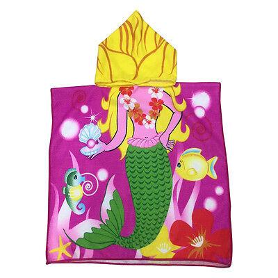 Kids Outdoor Cartoon Baby Soft Hooded Poncho Bath Towel Bathrobe Halloween Gift