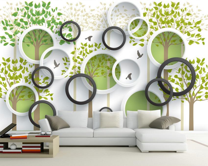 3D Baum Vogel Kreis 953 Tapete Wandgemälde Tapete Tapeten Bild Familie DE Summer | Export  | Um Sowohl Die Qualität Der Zähigkeit Und Härte  | Deutschland Online Shop
