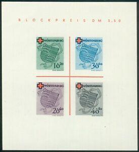 Alliierte-Besetzung-Wuerttemberg-Block-1i-Michel-150-00-Pracht