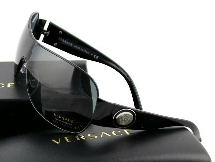 42c19eeba5 Versace Ve2101 100987 Black Frame Grey Lens for sale online