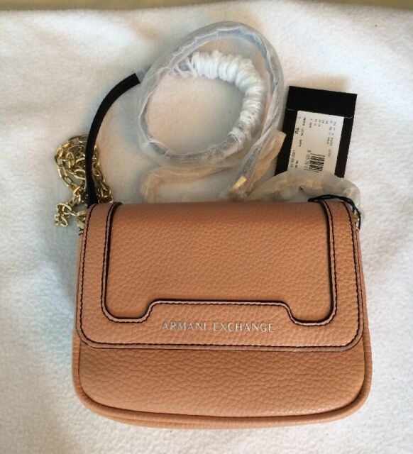 4a7f23819bfd a X Armani Exchange Mini Pebbled Faux Leather Crossbody for sale online