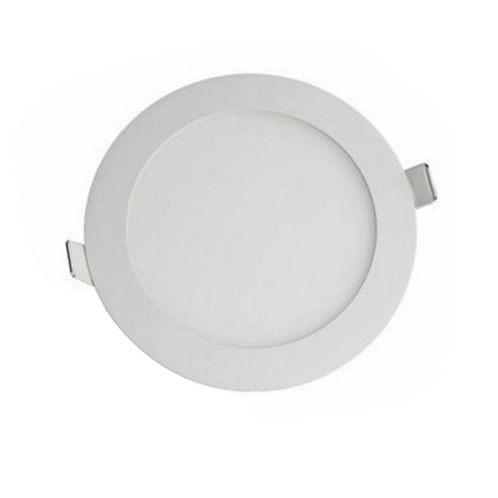 Round LED Recessed Ceiling Panel Lighting Weiß 12 Watt Light 3000K Stylish x 10