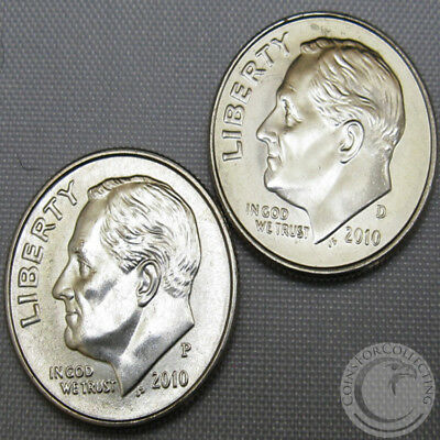 2010-D ROOSEVELT DIME BU OUT OF BANK ROLLS US COIN