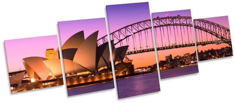 Sydney harbour skyline city multi toile murale art box cadre photo