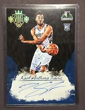 2015-16 Court Kings KARL ANTHONY TOWNS Box Topper 5x7 On Card Auto SUPER RARE!!!