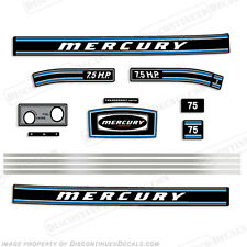 Mercury 1973 7.5hp Outboard Decal Kit -Discontinued Decal Reproductions in Stock