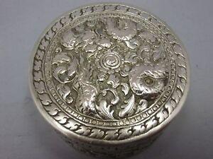 Antiquitäten & Kunst Schneidig Antique Japanese Or Chinese Export Silver Box With Dragon Schnelle WäRmeableitung
