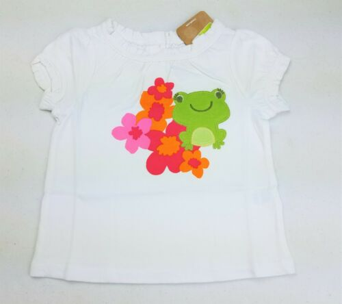 Girls CRAZY 8 by Gymboree white frog applique t shirt 3 6 12 18 months NWT top