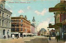 Canada, BC, Vancouver, Granville Street 1910 Postcard