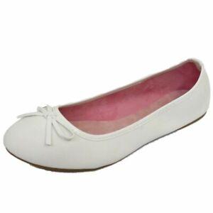 LADIES FLAT WHITE SLIP-ON SHOES DOLLY