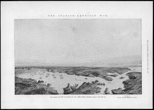 1898-Antique-Print-SPANISH-AMERICAN-War-Cuba-Santiago-Harbour-Cervera-169
