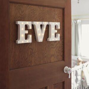 Dettagli su 16cm LED accendere Lettere Per Ragazza Ragazzo Bambino Nome |  Home Camera da Letto personalizzare- mostra il titolo originale