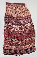 Boohoo Corina Ethic Print Maxi Skirt - Us 10 - Multi -