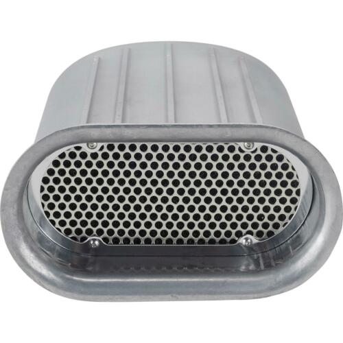 Polished Speedway Gasser Finned Aluminum Single Quad Carb Air Scoop