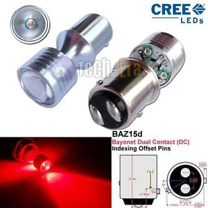 red can bus baz15d 566 150 20w cree led bulbs for brake. Black Bedroom Furniture Sets. Home Design Ideas