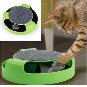 CoopéRative Chat Chaton Catch The Mouse Plush Moving Toy Scratching Claw Care Mat Play Toy-afficher Le Titre D'origine