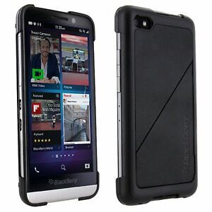 Details about Genuine OEM BlackBerry Z30 Transform Kickstand Case Black  Hard Shell Cover New