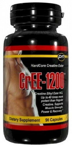 4 bottles CrEE-1200 Creatine Ethyl Ester Hydrochloride Muscle Build Muscle Hydrochloride Fast Pills 648354