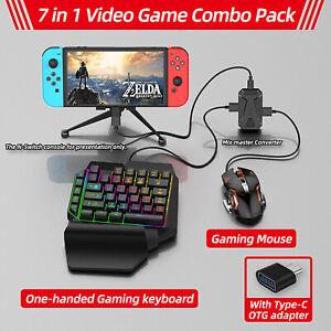 Adaptador Convertidor De Video Juego Teclado Mouse Accesorio Para Xbox PS4 PS5 Interruptor