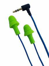 Green/Blue Earplug Earphones: Noise Reduction Headphones: Work Earbud Earplugs