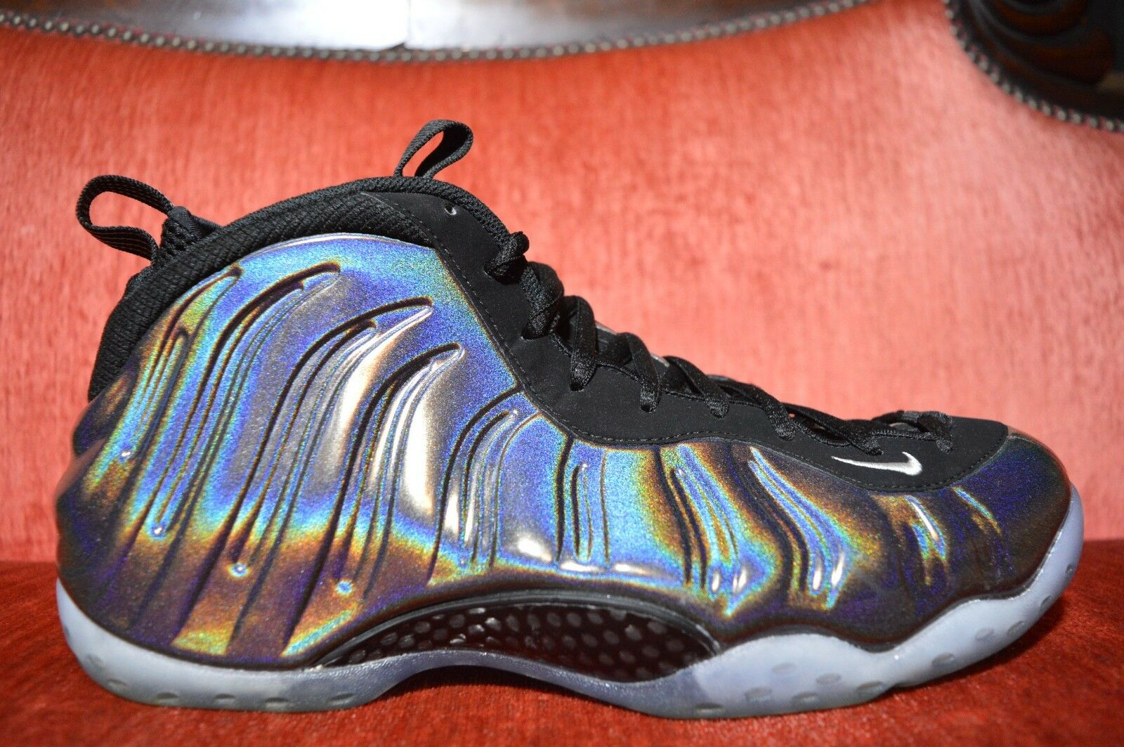 CLEAN NIKE AIR FOAMPOSITE ONE MULTI COLOR-SILVER HOLOGRAM 314996-900 Comfortable Seasonal clearance sale