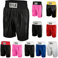 Title 拳擊青年經典邊緣緞面性能拳擊短褲