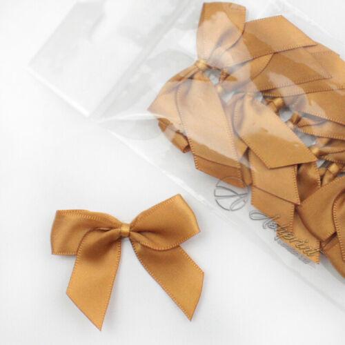 5cm Satin Bows Self Adhesive Antique Gold