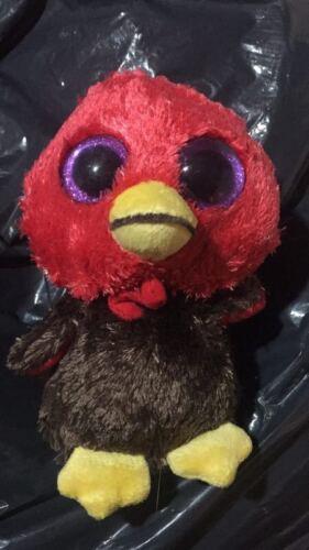 TY BEANIES BOOS Gobbles Turkey Stuffed doll 6 in hand