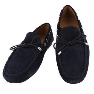 Neuf Fiori Di Lusso Daim Bleu Marine Chaussures - Mocassins - (2018032032)