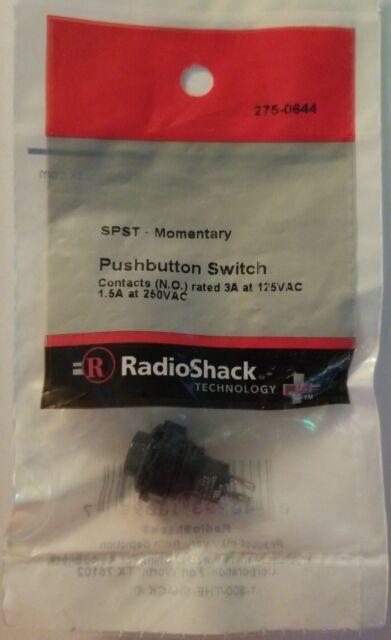 RadioShack 275-644 SPST Momentary Pushbutton Switch