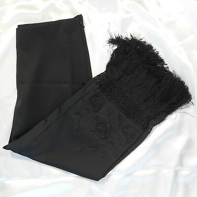 Laundry by Shelli Segal Flat Front Ankle Pants Womens 10 Black White NEW 6069