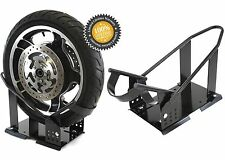 9 Position Motorcycle Front Wheel Tire Chock Trailer Mount New Free Shipping USA