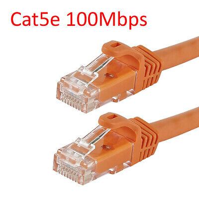 Orange 5ft CAT5e Ethernet Network LAN Patch Cable Cord 350 MHz RJ45 Internet