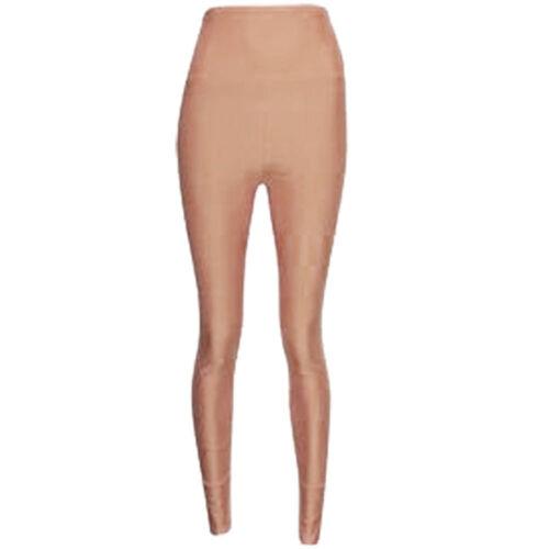 1 S Nouveau Femme Disco Leggings Taille Haute Femme Brillant Tissu Dance 8-14