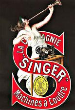 L'arte annuncio SINGER MACCHINE PER CUCIRE DECO poster stampa