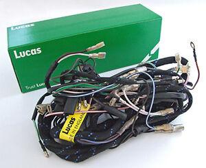 genuine lucas wiring harness triumph pre unit t110 1955 59 uk madeimage is loading genuine lucas wiring harness triumph pre unit t110