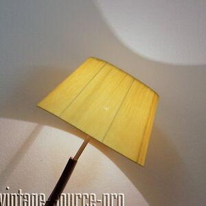 Edle 60er Jahre Design Boden Stehlampe Mahagoni Finish Mit Bast