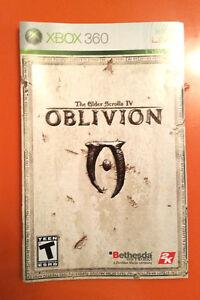 xbox 360 elder scrolls iv oblivion instruction booklet insert only rh ebay com Xbox 360 Arcade Manual Xbox 360 Setup Manual