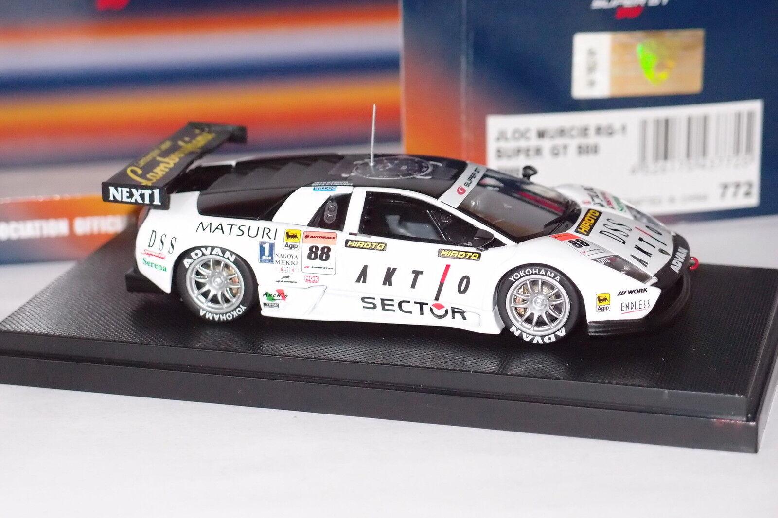 EBBRO LAMBORGHINI LAMBORGHINI LAMBORGHINI JLOC RG-1  SUPER GT 500 2005 WHITE REF 772 1 43 2c2feb