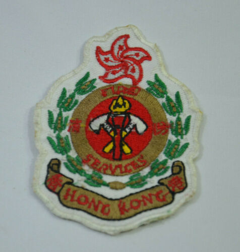 FIRE DEPT HONG KONG FIREMAN  Embroidered Sew Iron On Cloth Patch Badge APPLIQUE