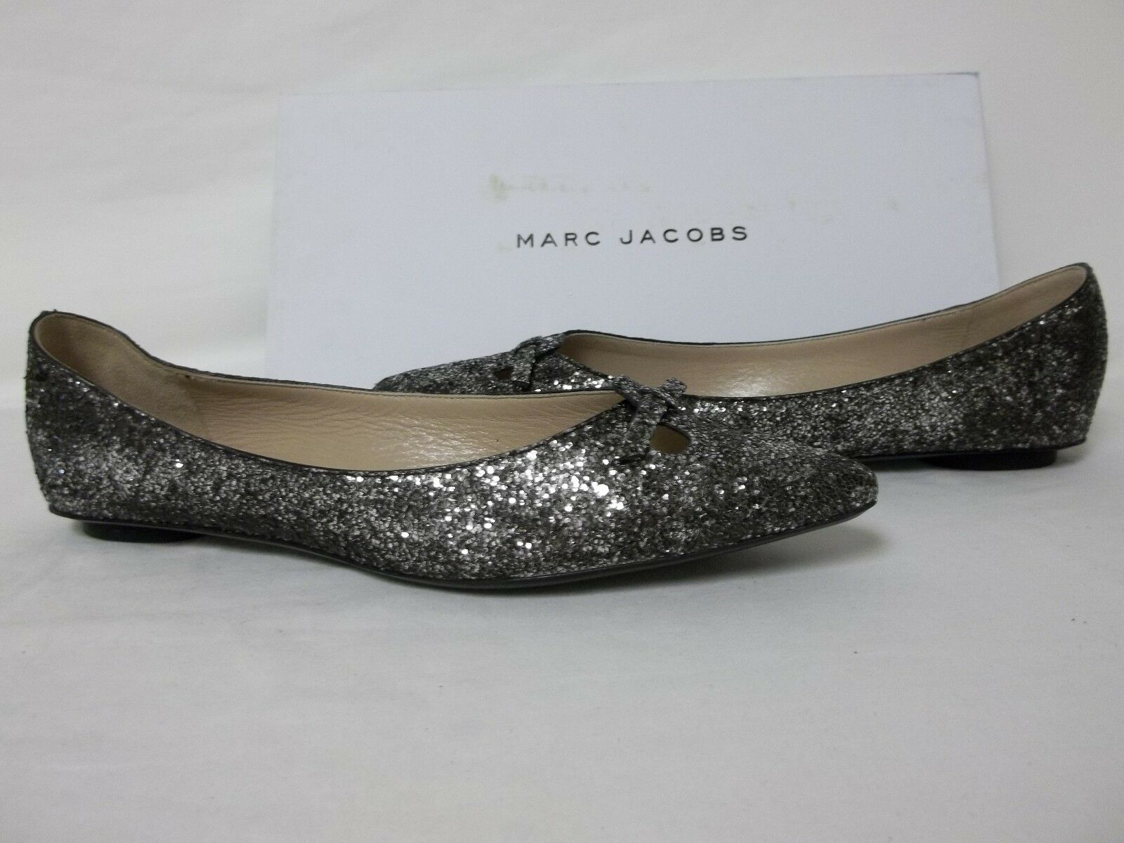 Marc Jacobs Size US 6 M MJ21093 Silver Leather Leather Leather Flats New Womens Shoes 544e0f