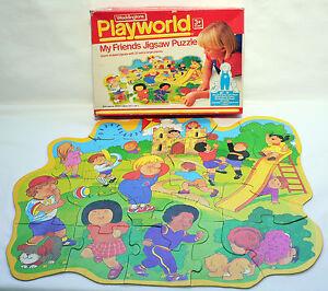Vintage 1985 Playworld My Friends 20 Extra Large Piece Jigsaw Puzzle Waddingtons